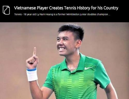Bài viết về Hoàng Nam trên World Tennis USA.