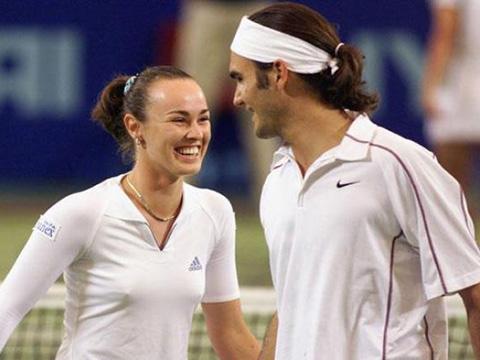 Federer rất háo hức với cơ hội đánh cặp cùng Hingis sau 15 năm