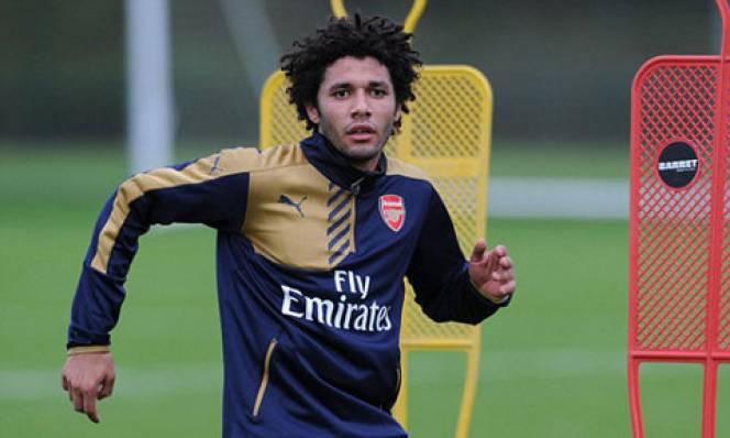 Elneny có buổi tập đầu cùng đội bóng mới hôm thứ năm. Ảnh: Arsenal FC.