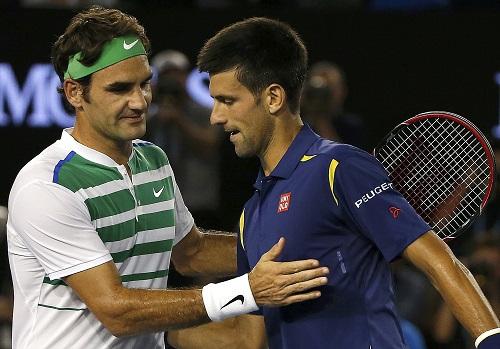 Federer để Djokovic vượt lên về thành tích đối đầu. Ảnh: Reuters