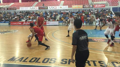 Hình ảnh hai đội thi đấu tại nhà thi đấu Malolos, Philippines. Ảnh: Linh Huỳnh.