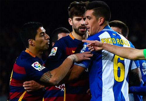 Trận derby Catalonia ở Cup Nhà vua đã diễn ra căng thẳng ngoài dự đoán. Ảnh: Reuters