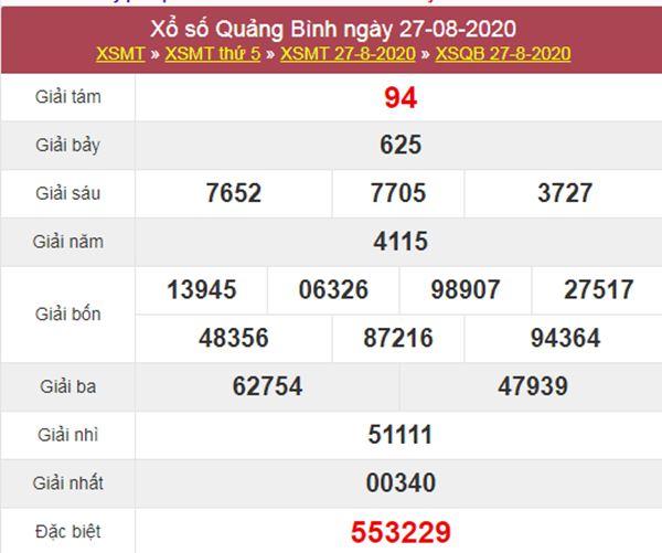 Thống kê XSQB 3/9/2020 chốt lô VIP Quảng Bình thứ 5